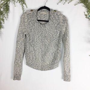 [Banana Republic] Cream Zipped Sweater Cardigan